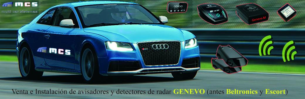 Venta e Instalación de avisadores y detectores de radar indetectables GENEVO Beltronics Escort fijos y portátiles