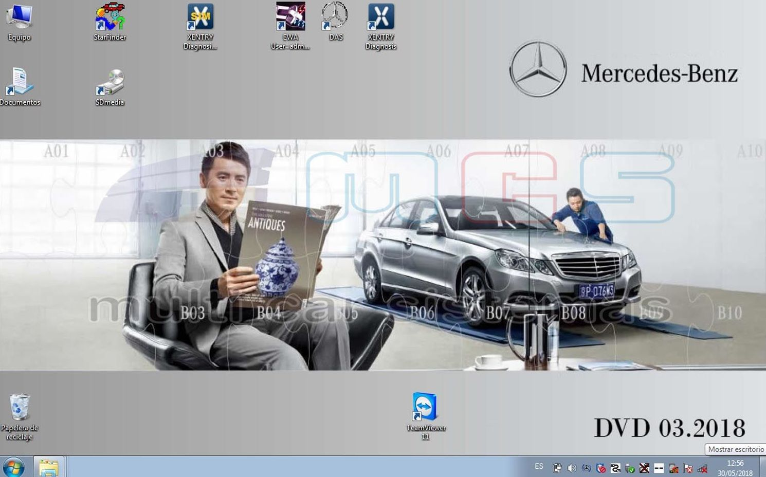 Star Diagnosis Xentry DAS Mercedes-Benz Smart DVD 2018