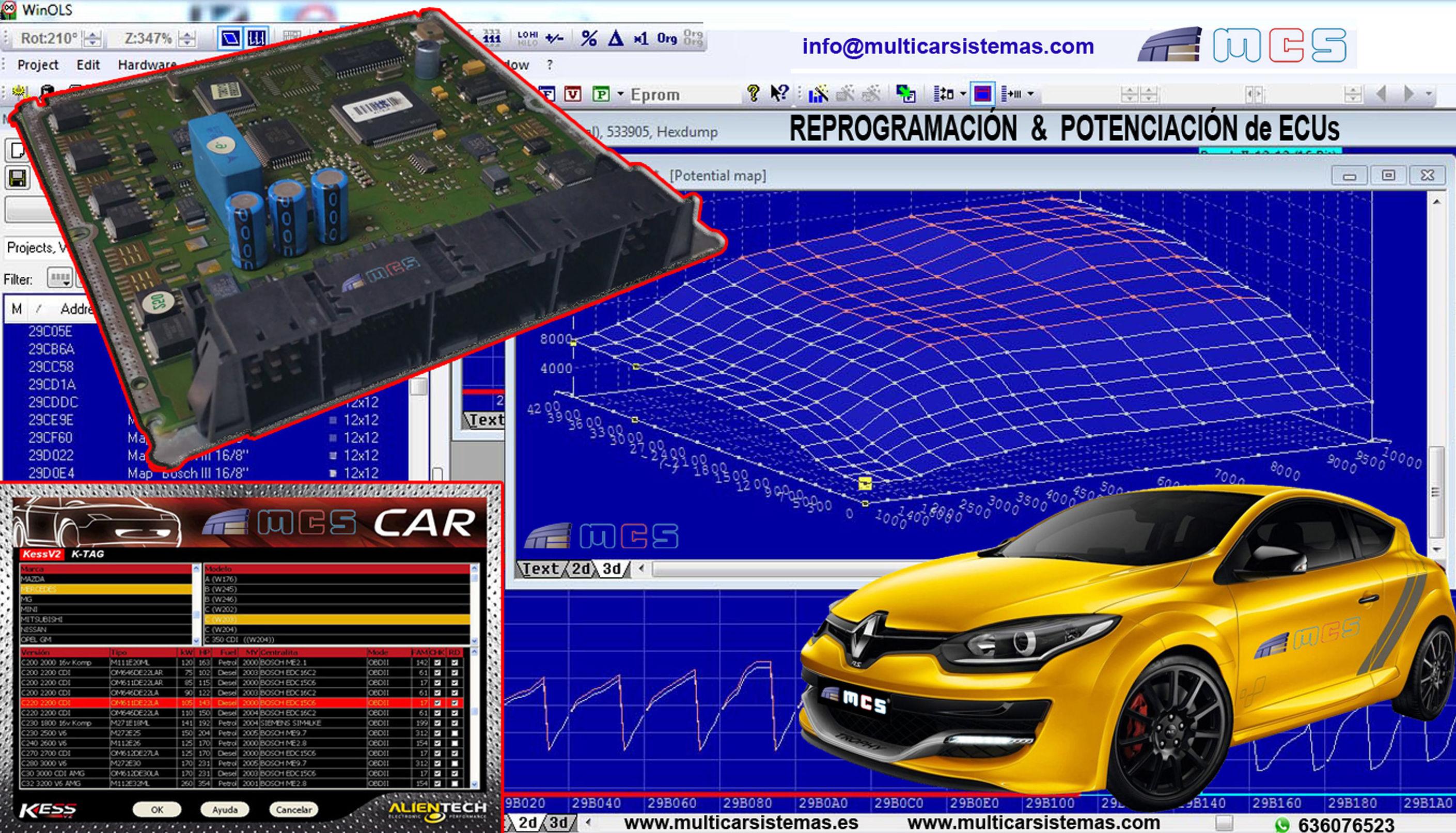 potenciación potenciar reprogramación reprogramar repro chip tunning ecu centralita motor aumentar potencia