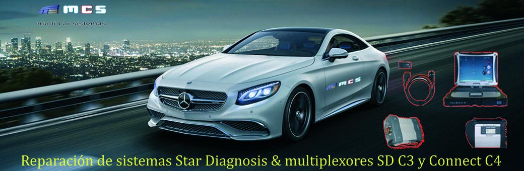 Star diagnosis mercedes benz multiplexor C3 C4 Xentry DAS
