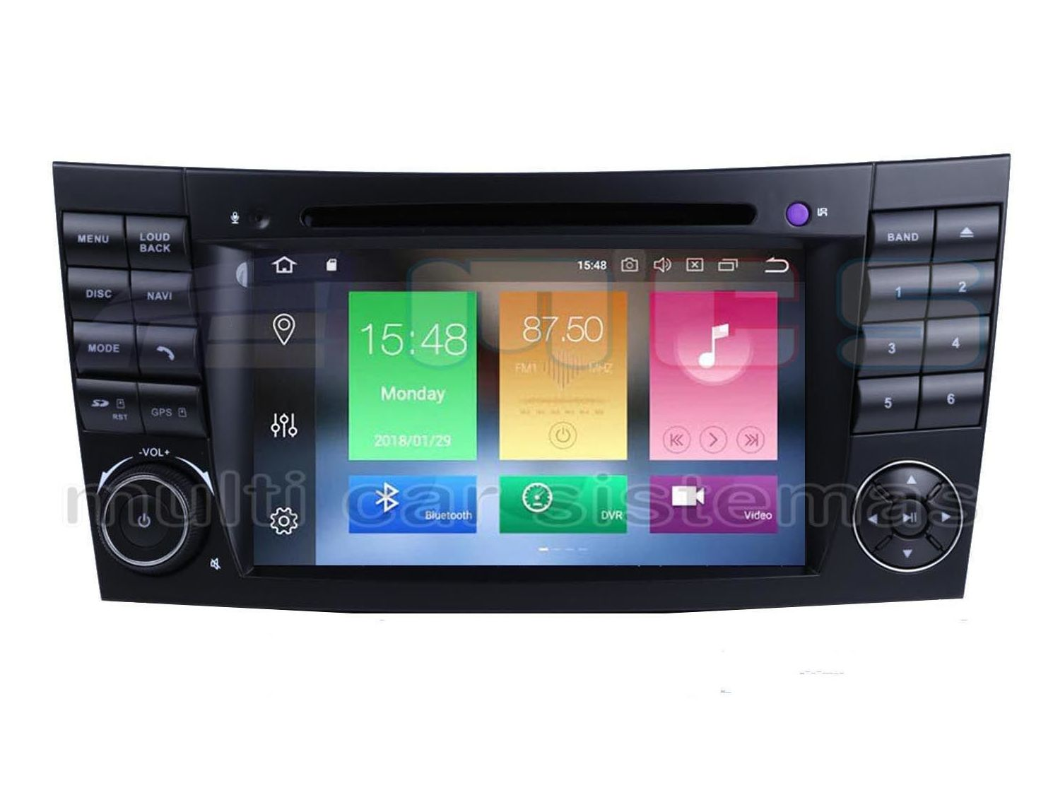"RADIO GPS PANTALLA TACTIL 7"" ANDROID MERCEDES E W211 CLS C219 WIFI BLUETOOTH USB SD"