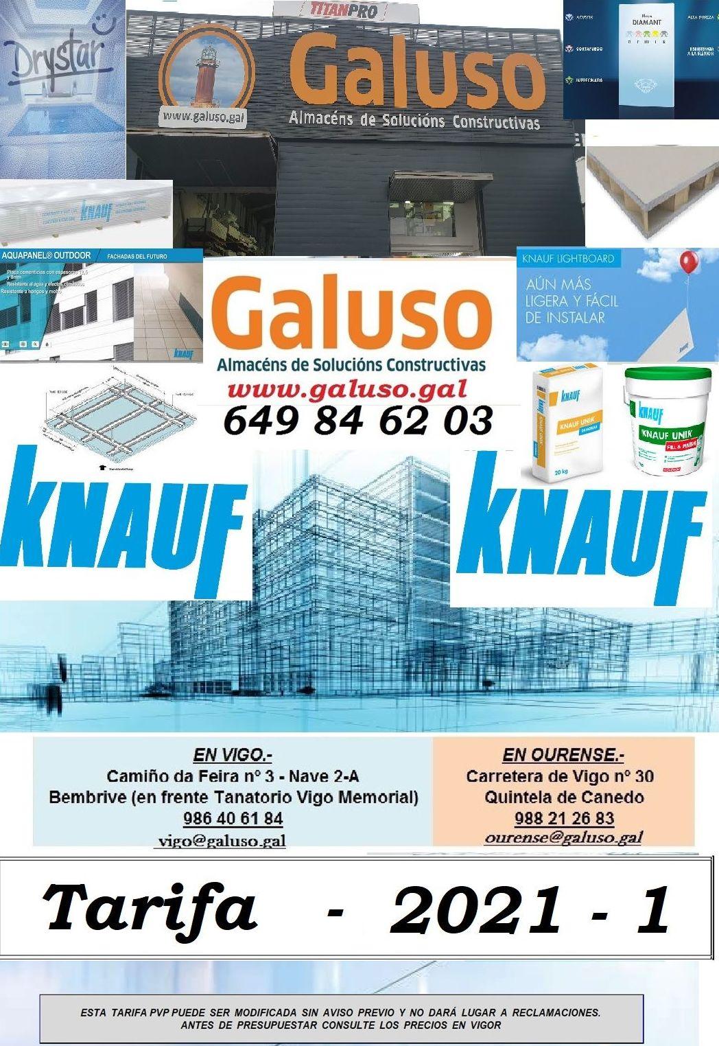 NOVAS TARIFAS KNAUF 2021-1: Catálogo de Galuso