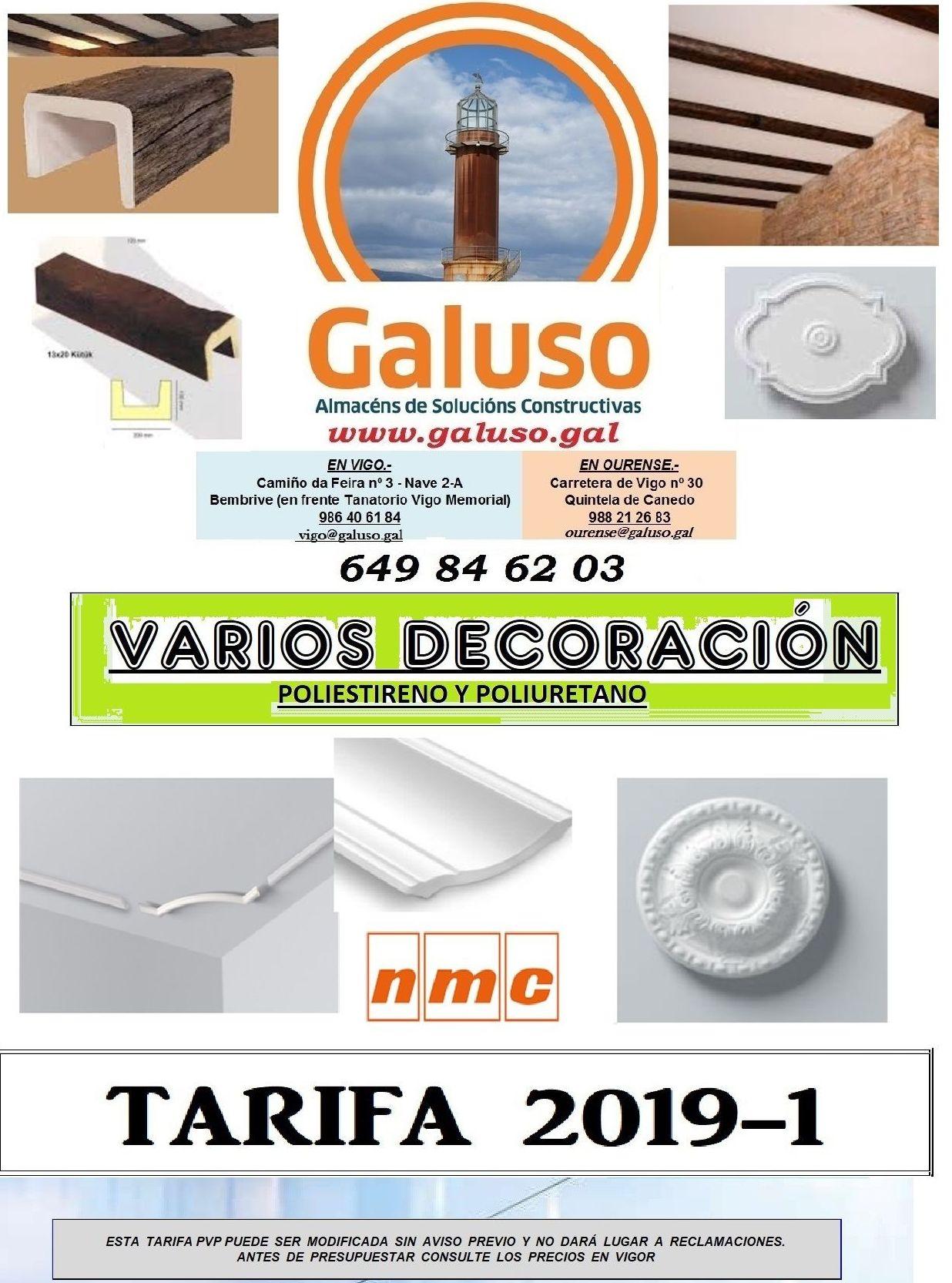 TARIFA 2019 - VARIOS DECORACION: Catálogo de Galuso