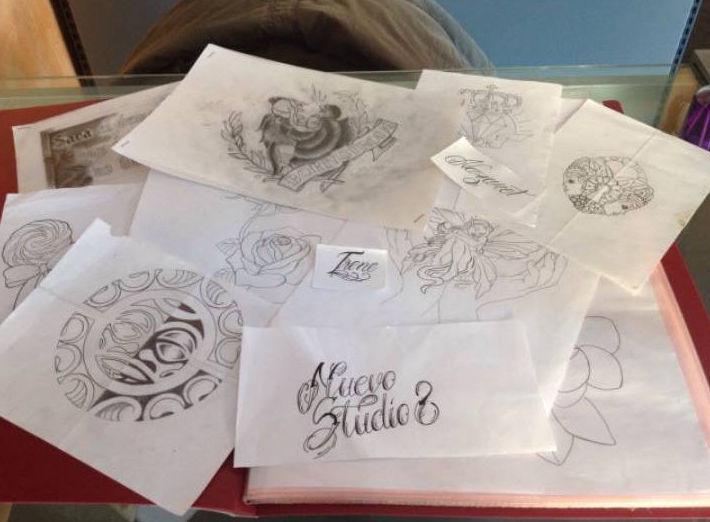 Bocetos de nuestros diseños a mano