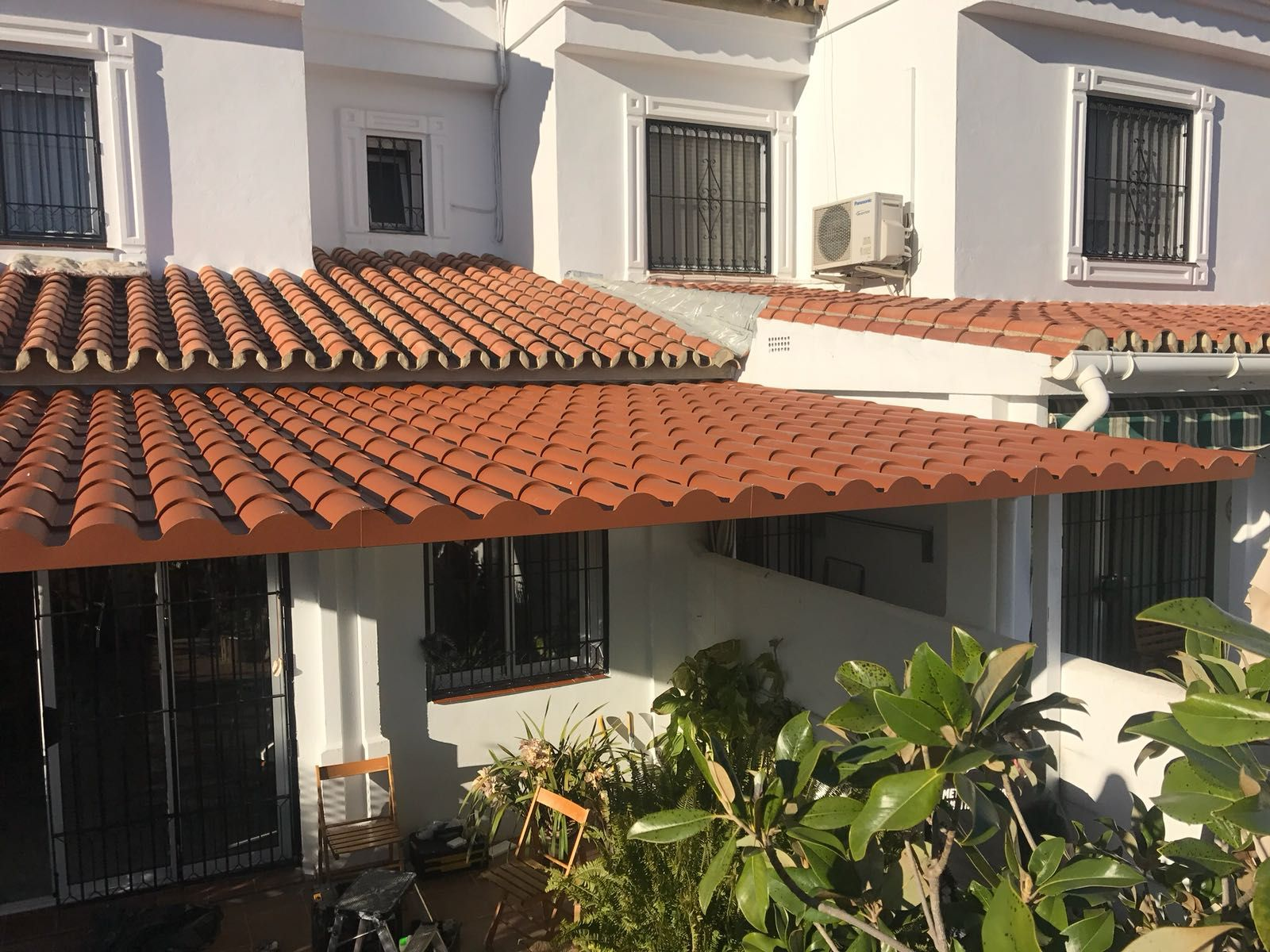 Terraza exterior con acristalamientos