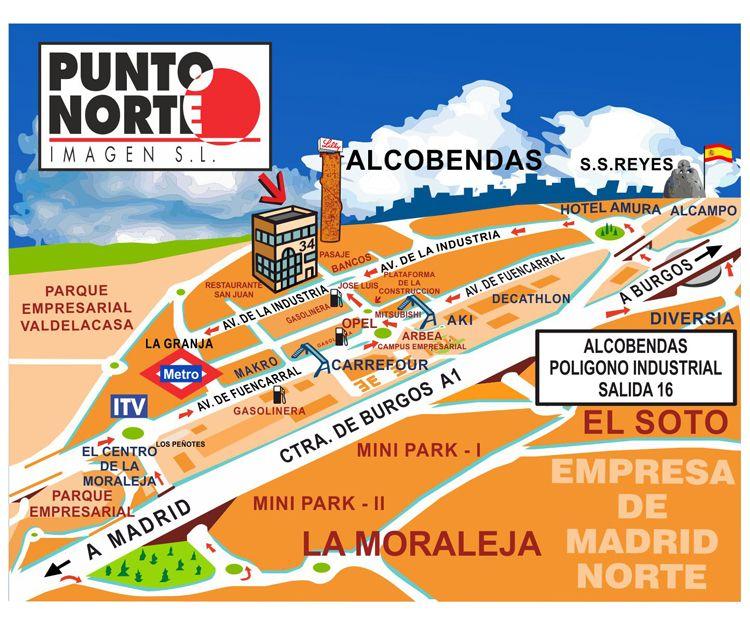 Mapa de situación de nuestra empresa de impresión digital en Alcobendas