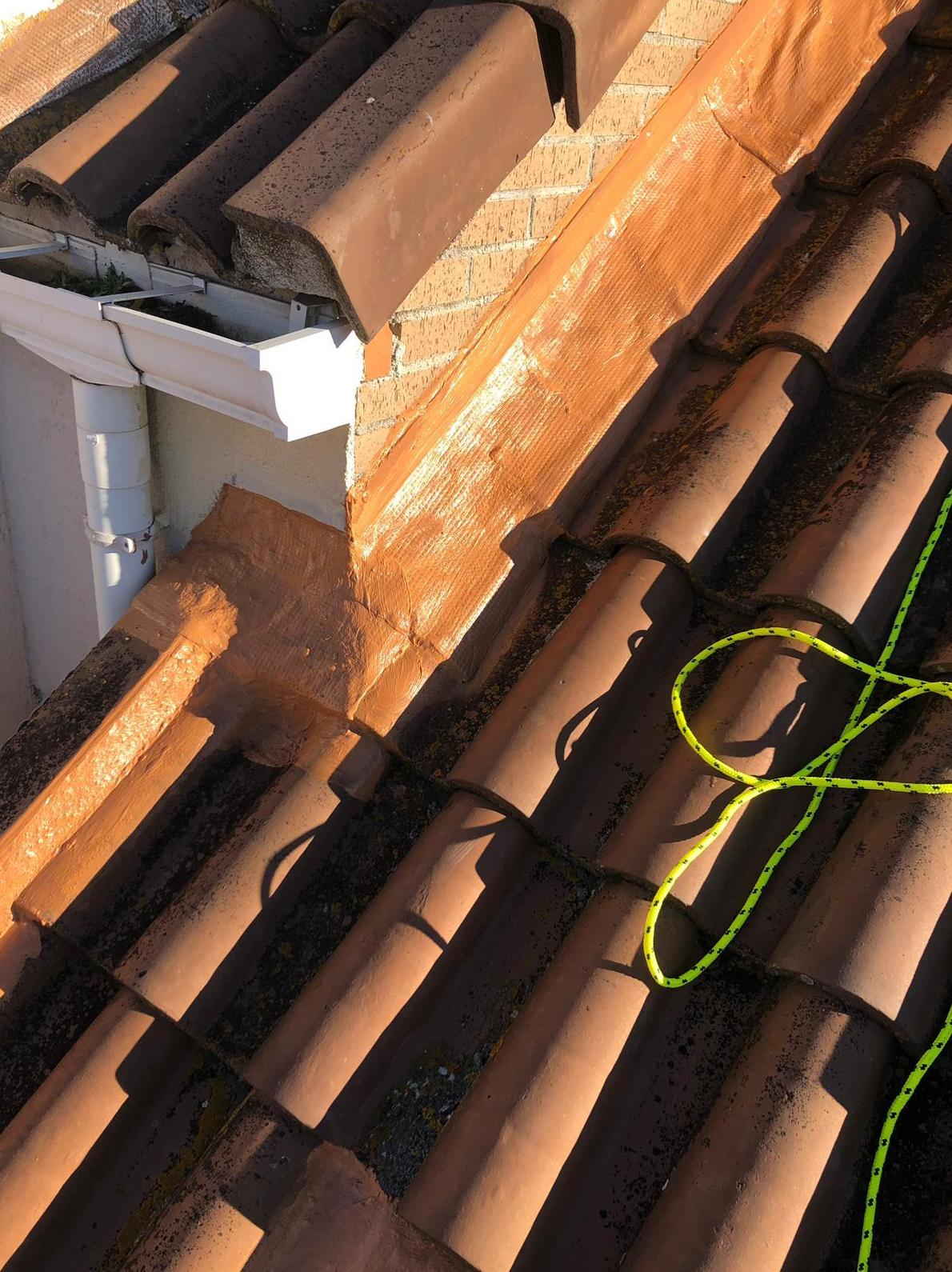 Cloro caucho tejado