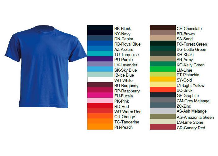 Venta de camisetas en diferentes colores