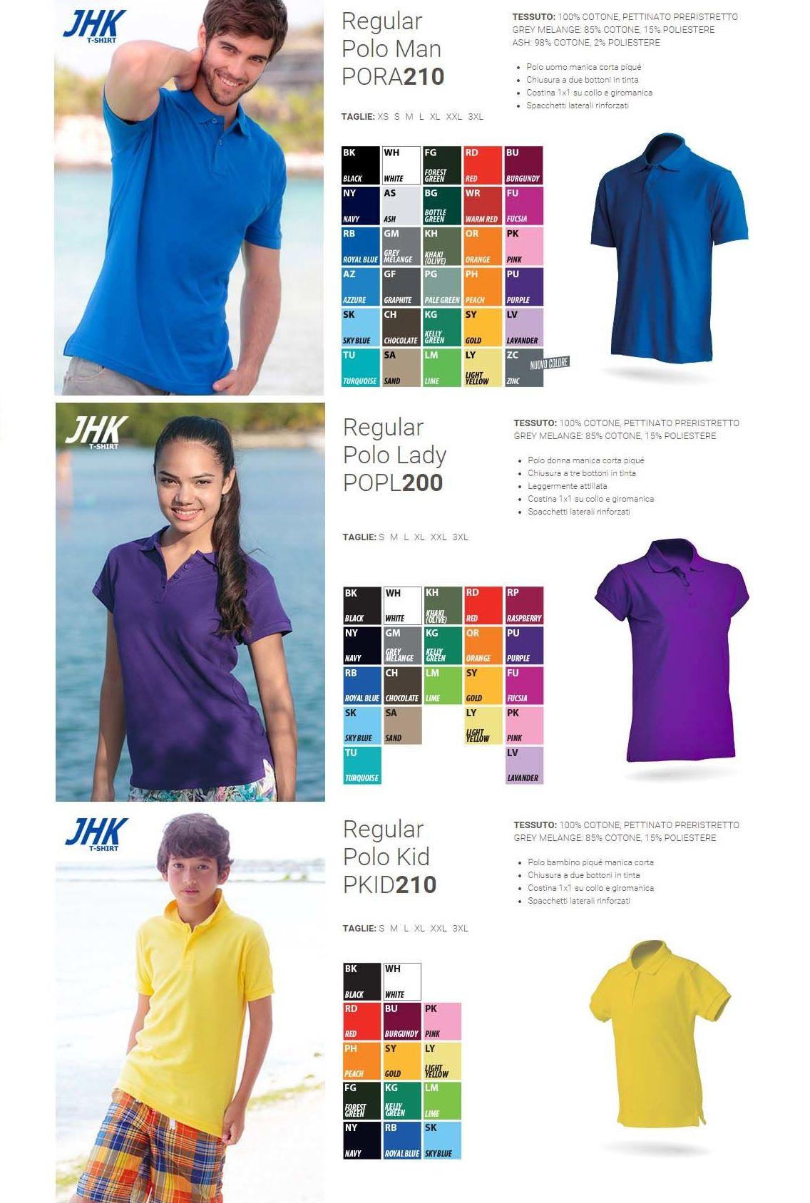 Polos JHK en diferentes colores