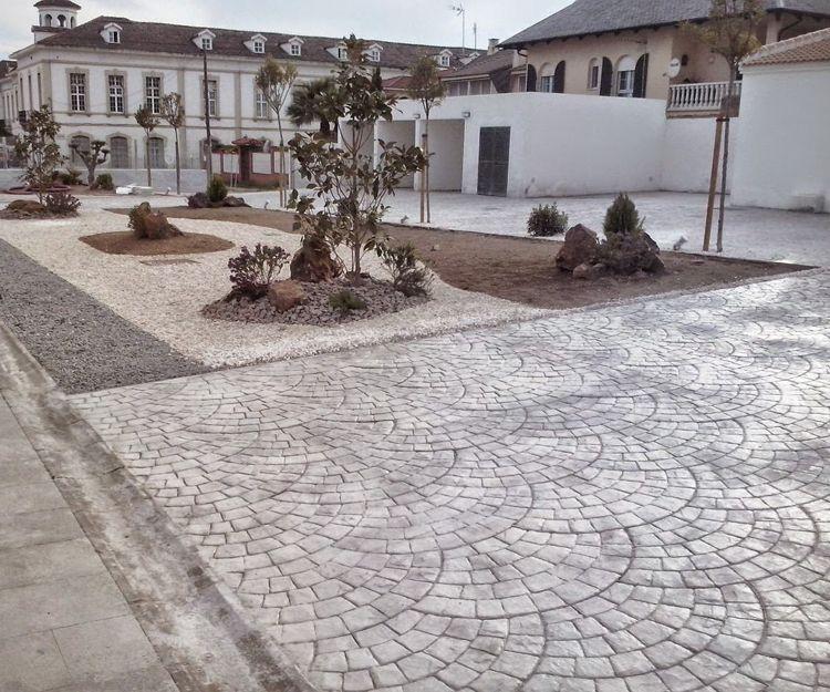 Hormigón estampado en Córdoba