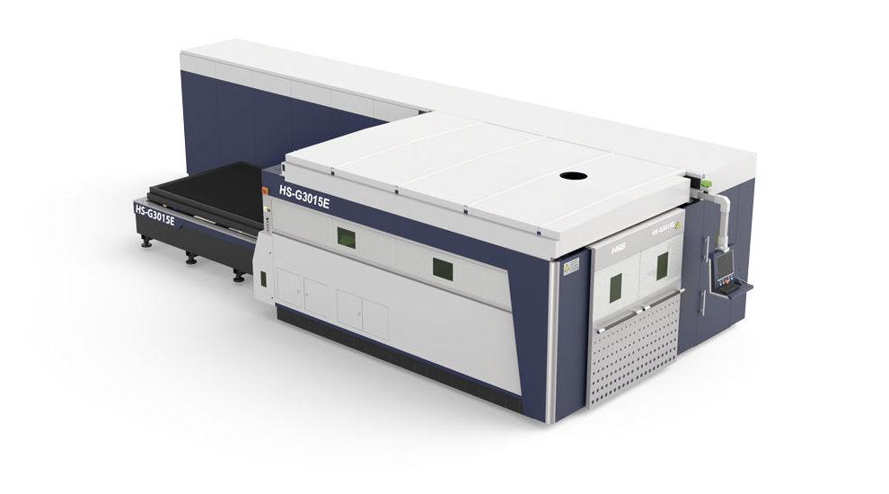 Máquina láser de corte por fibra de tubos y chapa metálica con cabina HS-G3015-F30