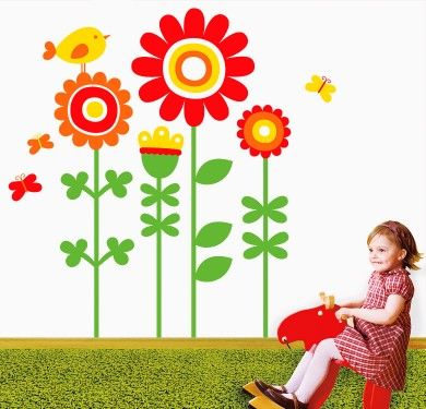 Wall sticker vinilo decorativo Happy Garden en Barcelona