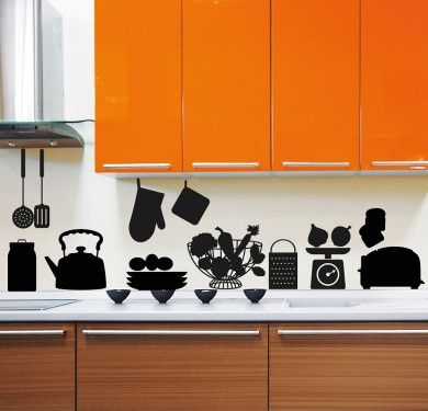 Wall sticker vinilo decorativo Kitchen Deco en Barcelona }}