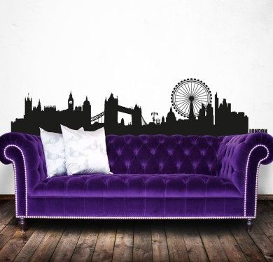 Wall sticker vinilo decorativo London Skyline en Barcelona }}