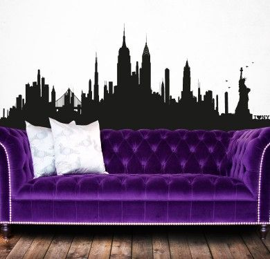 Wall sticker vinilo decorativo New York Skyline XL en Barcelona