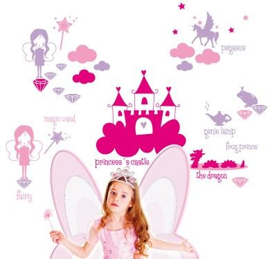 Wall sticker vinilo decorativo Princess Tale en Barcelona