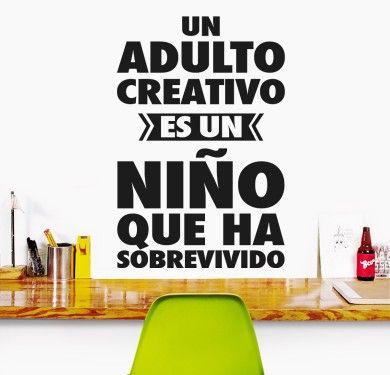 Wall sticker vinilo decorativo Un Adulto Creativo en Barcelona