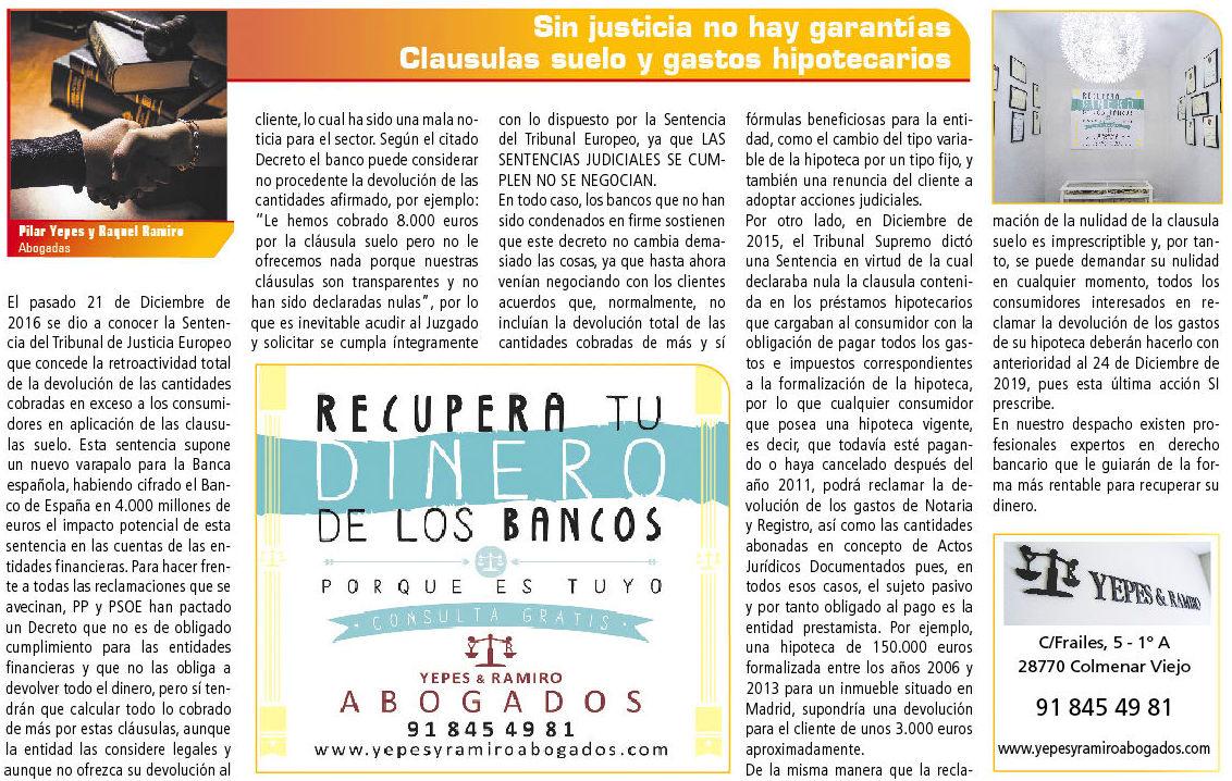 Foto 8 de Abogados en Colmenar Viejo | Yepes y Ramiro Abogados, S.L.