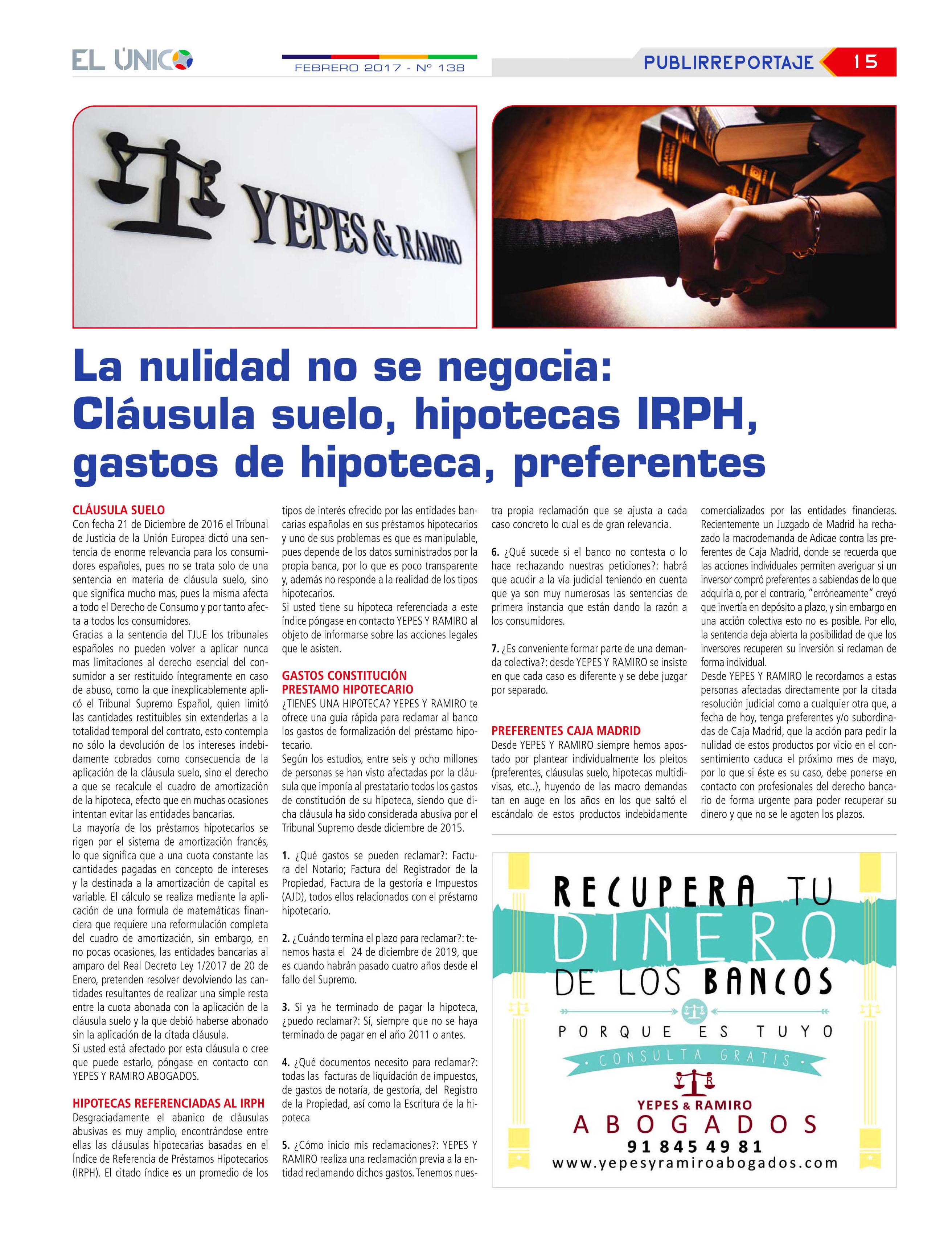 Foto 2 de Abogados en Colmenar Viejo | Yepes y Ramiro Abogados, S.L.