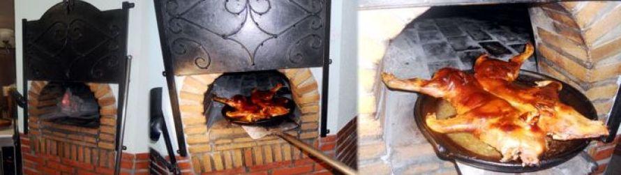 Cocinamos cochinillos asados con el horno tradicional