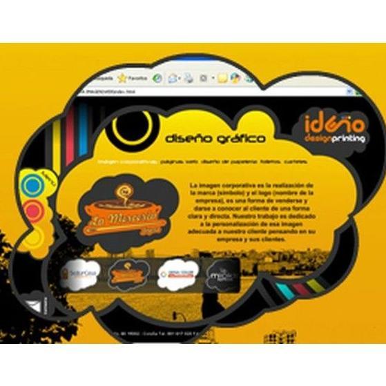 Páginas web: Catálogo de Ideño Diseño e Impresión