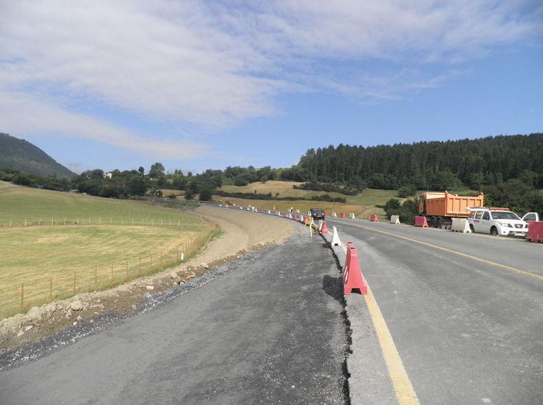 Modificación del trazado de una carretera