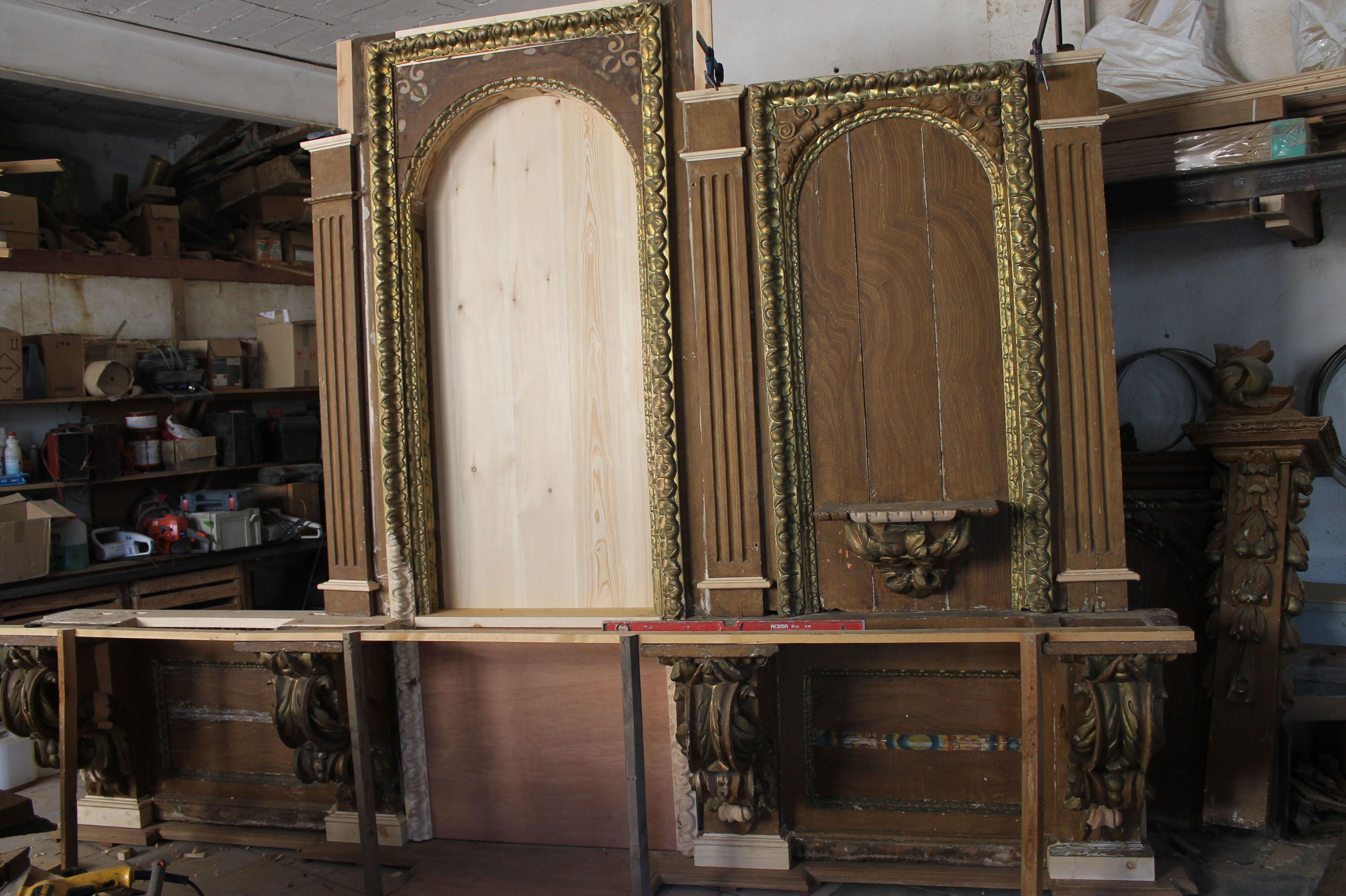 Parte de retablo para restaurar