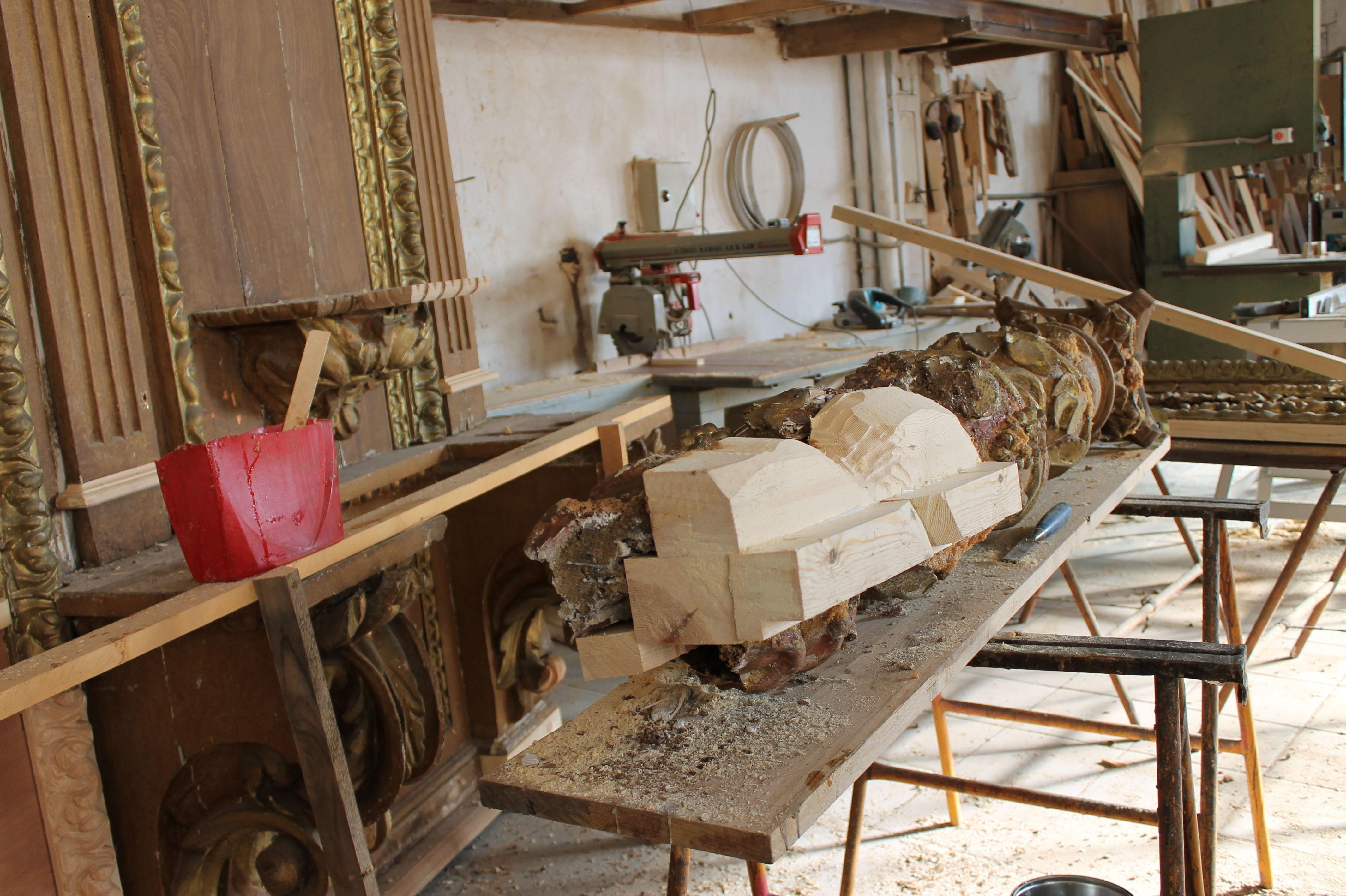 Interior de taller de restauración