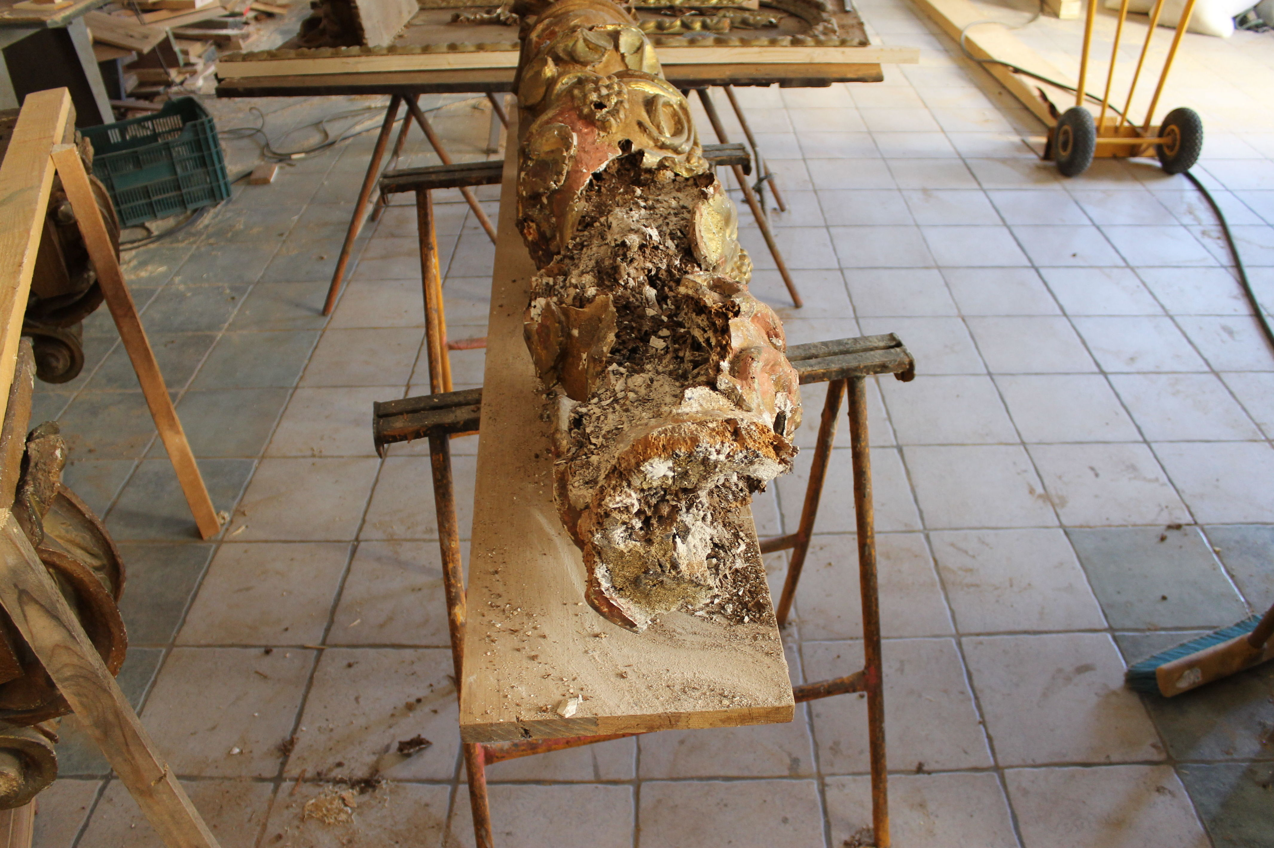 Elemento de retablo para restaurar
