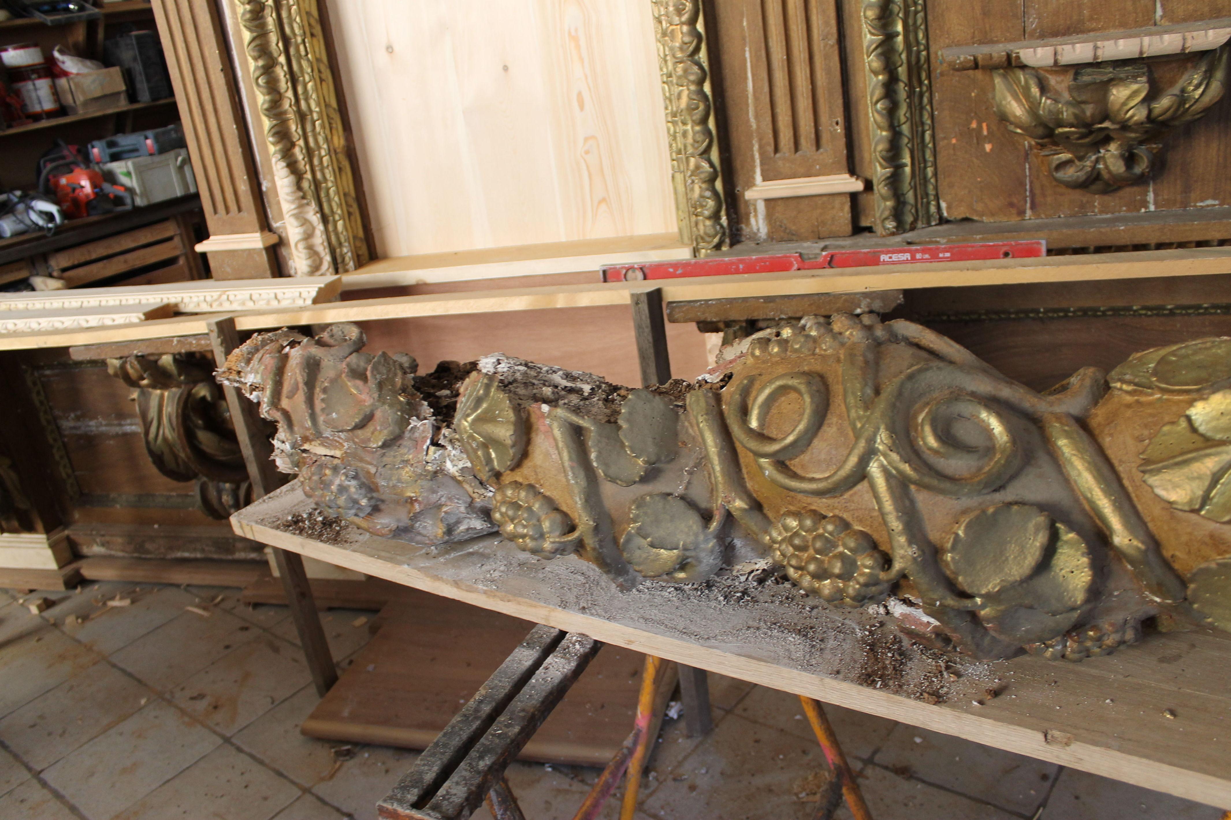 Base de retablo para restaurar