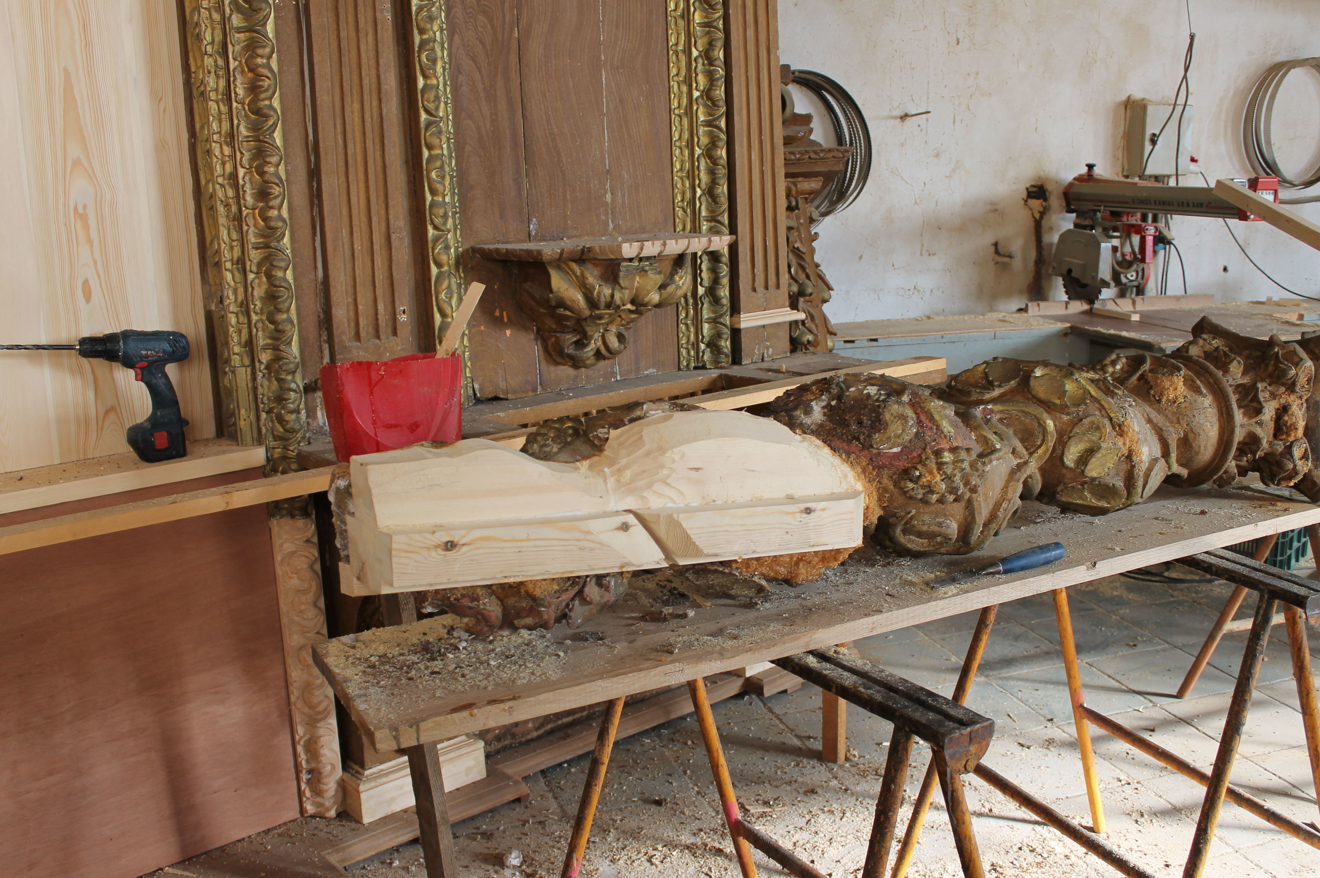 Restauración de madera de retablo
