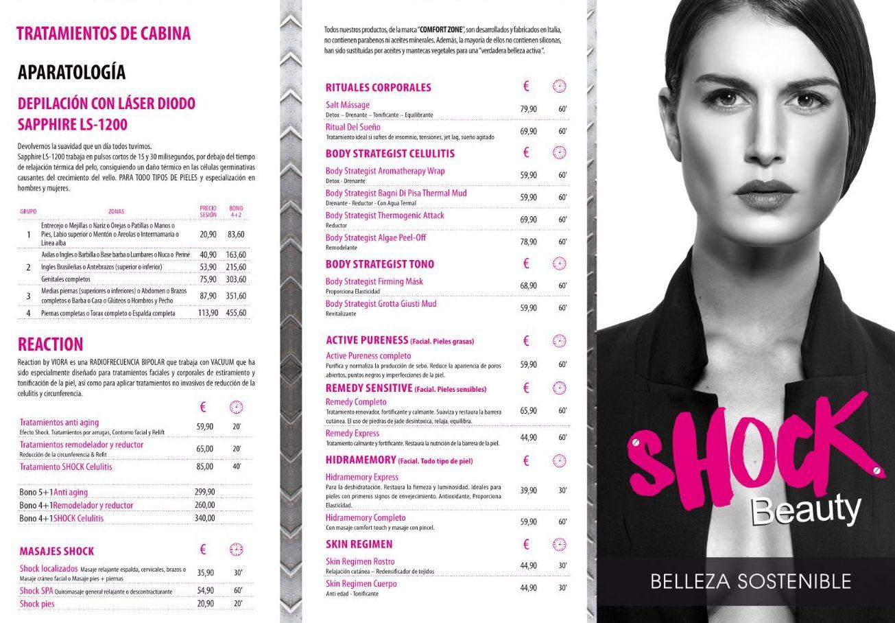 Precios y Tratamientos: Servicios de Shock Beauty