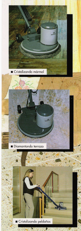Maquinaria para la limpieza del mármol y el terrazo en Zaragoza