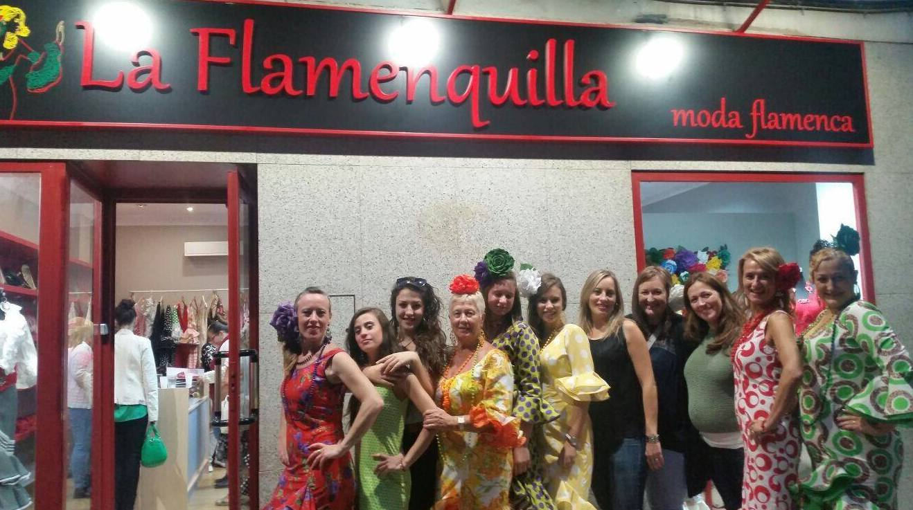 Tienda de moda flamenca en Zaragoza, inauguración.
