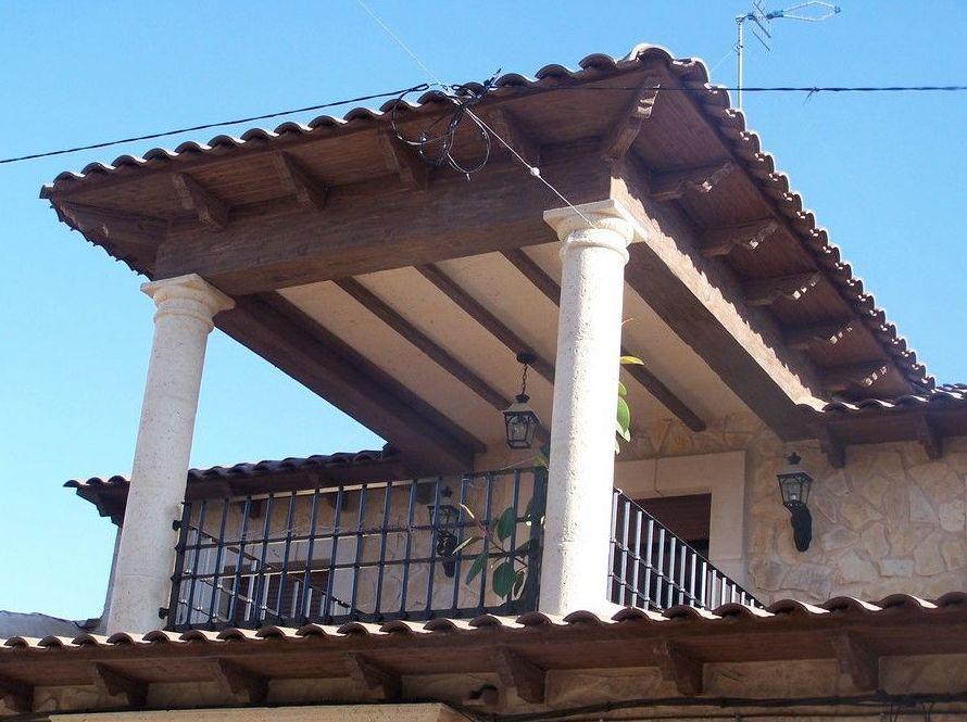 Vigas de hormig n imitaci n a madera en cuenca cymavi - Imitacion madera para fachadas ...
