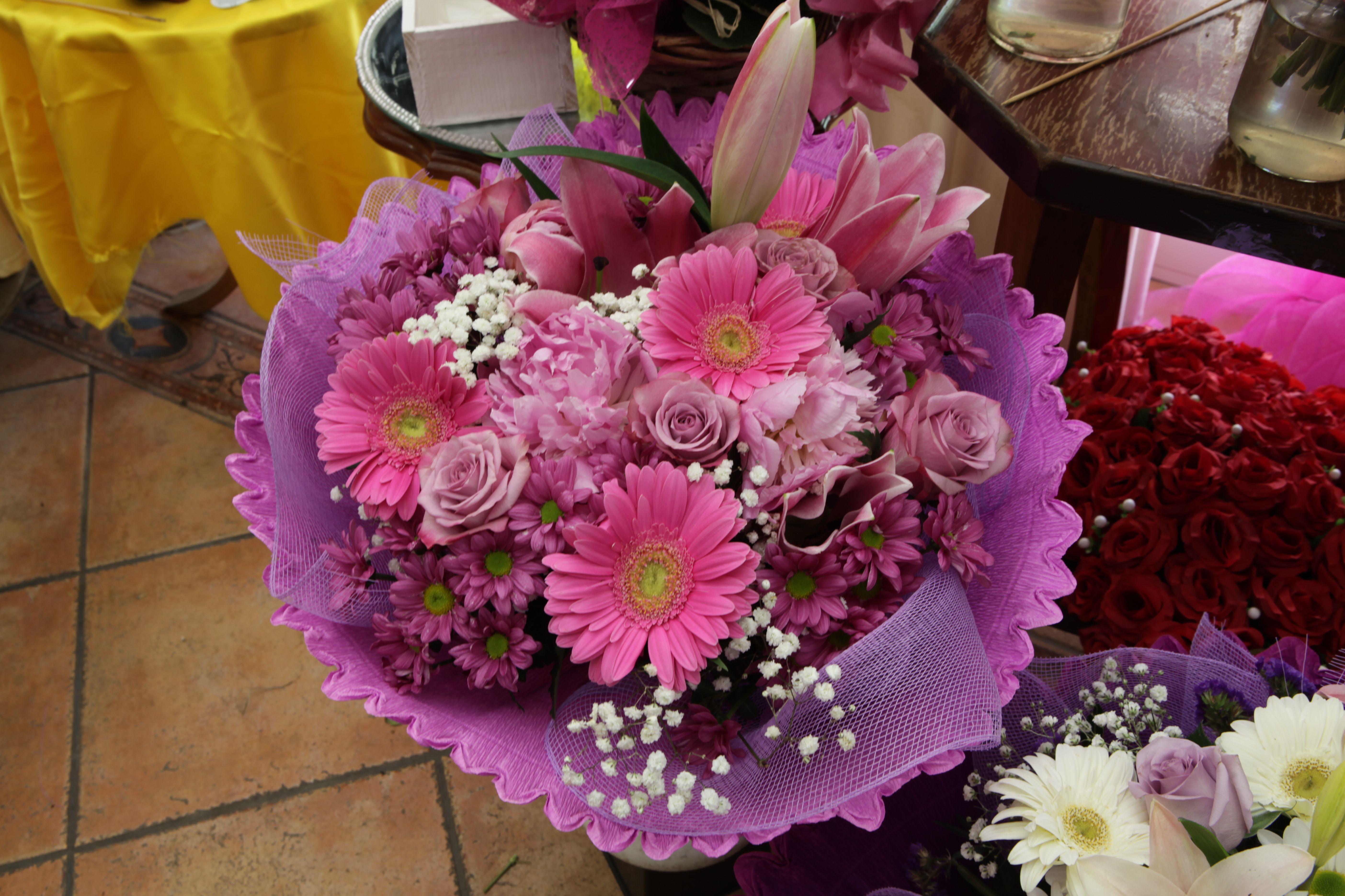 Ramo de flores rosa