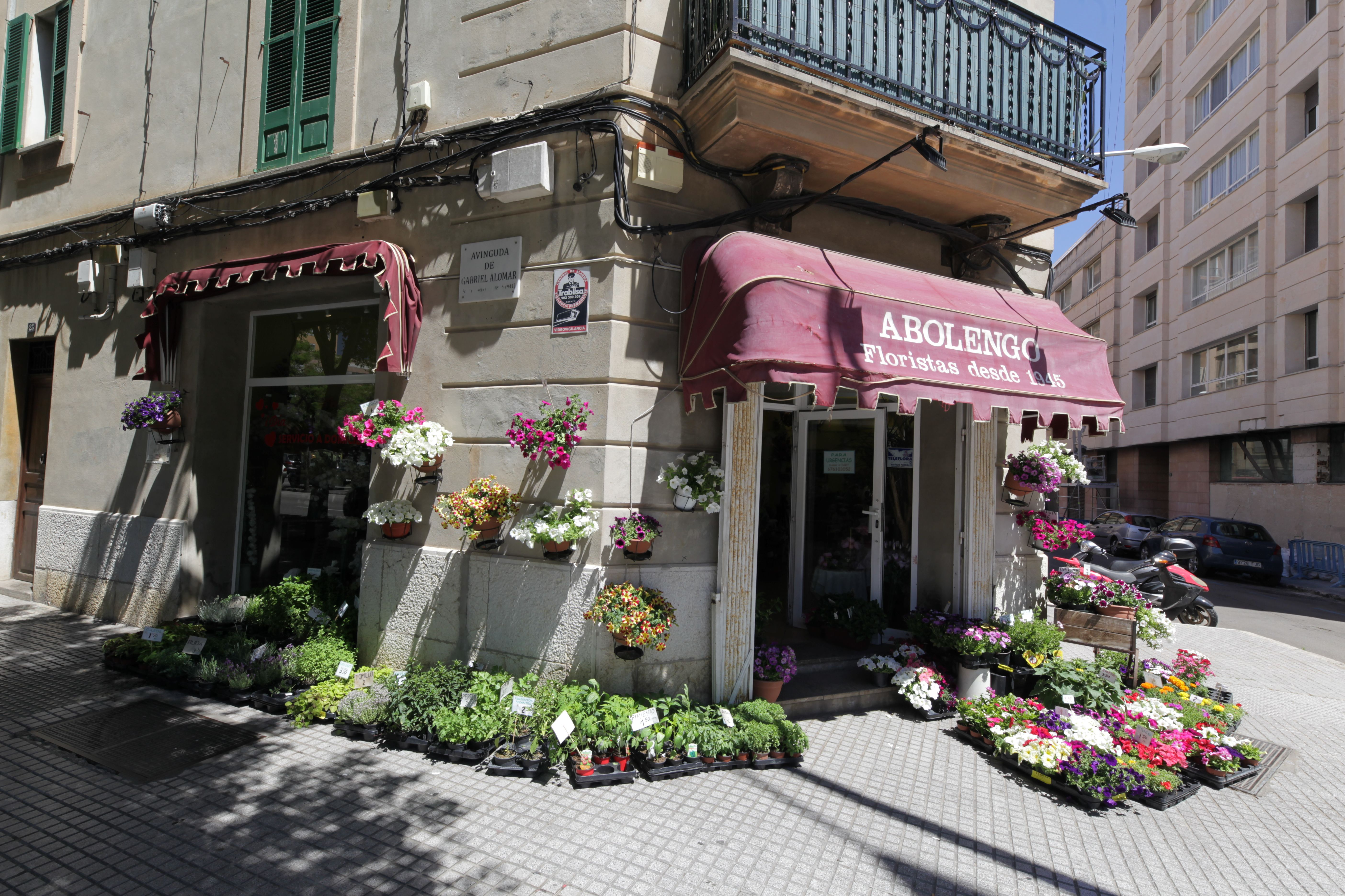 Exterior de la floristería