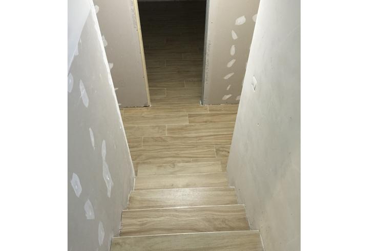 Realización de escalera en vivienda