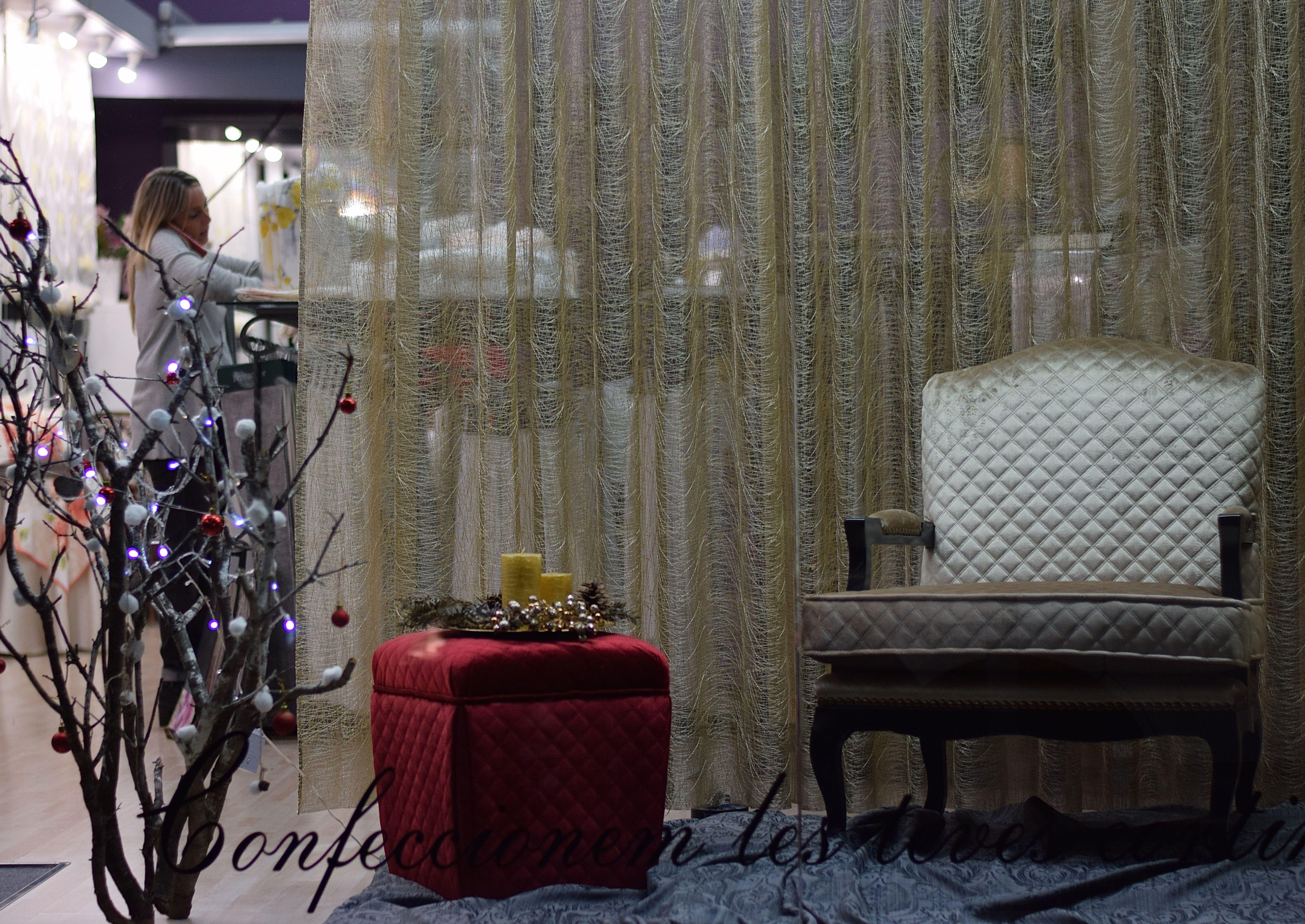 Decoración textil, tanto en cortinas