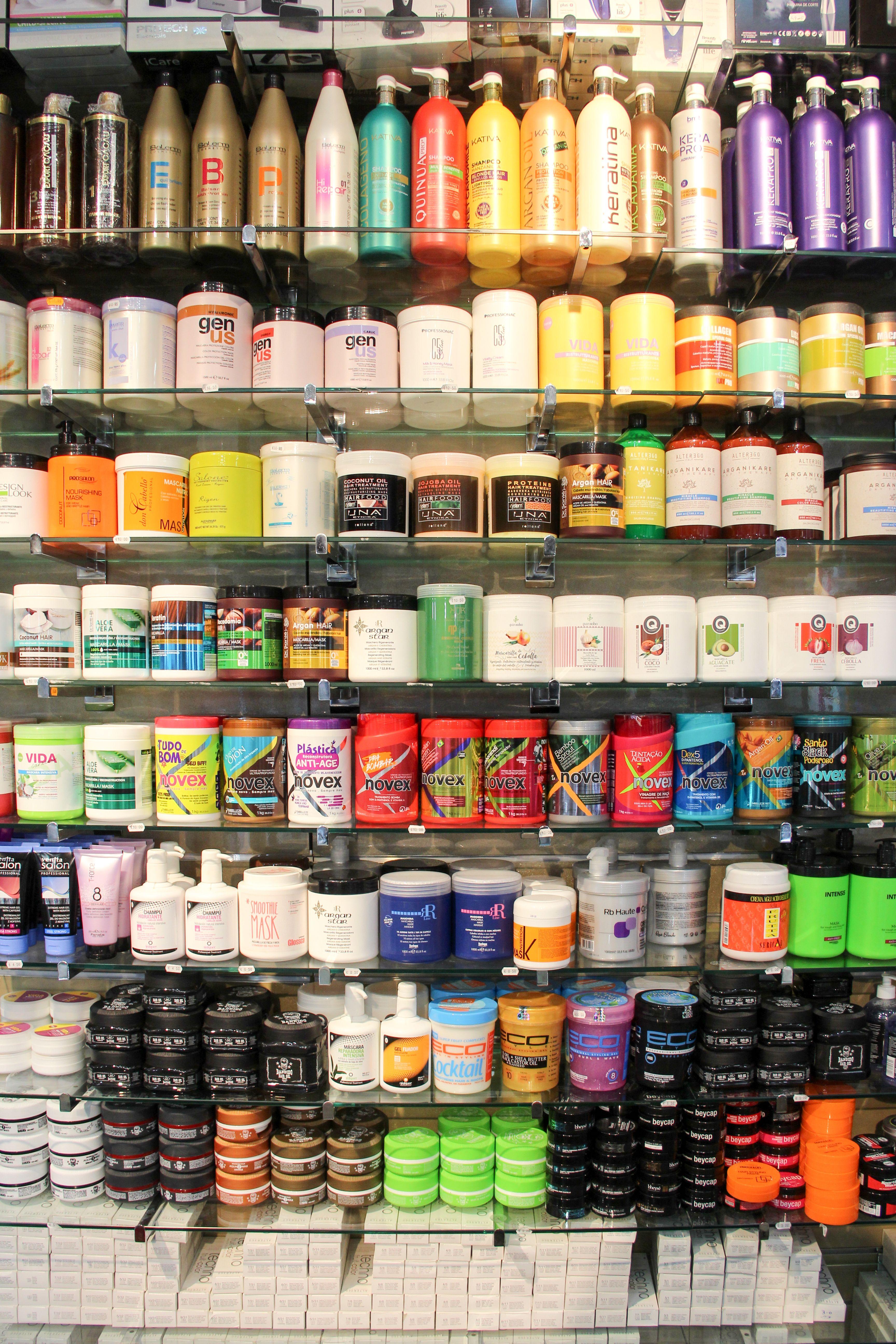 Expositor de productos capilares