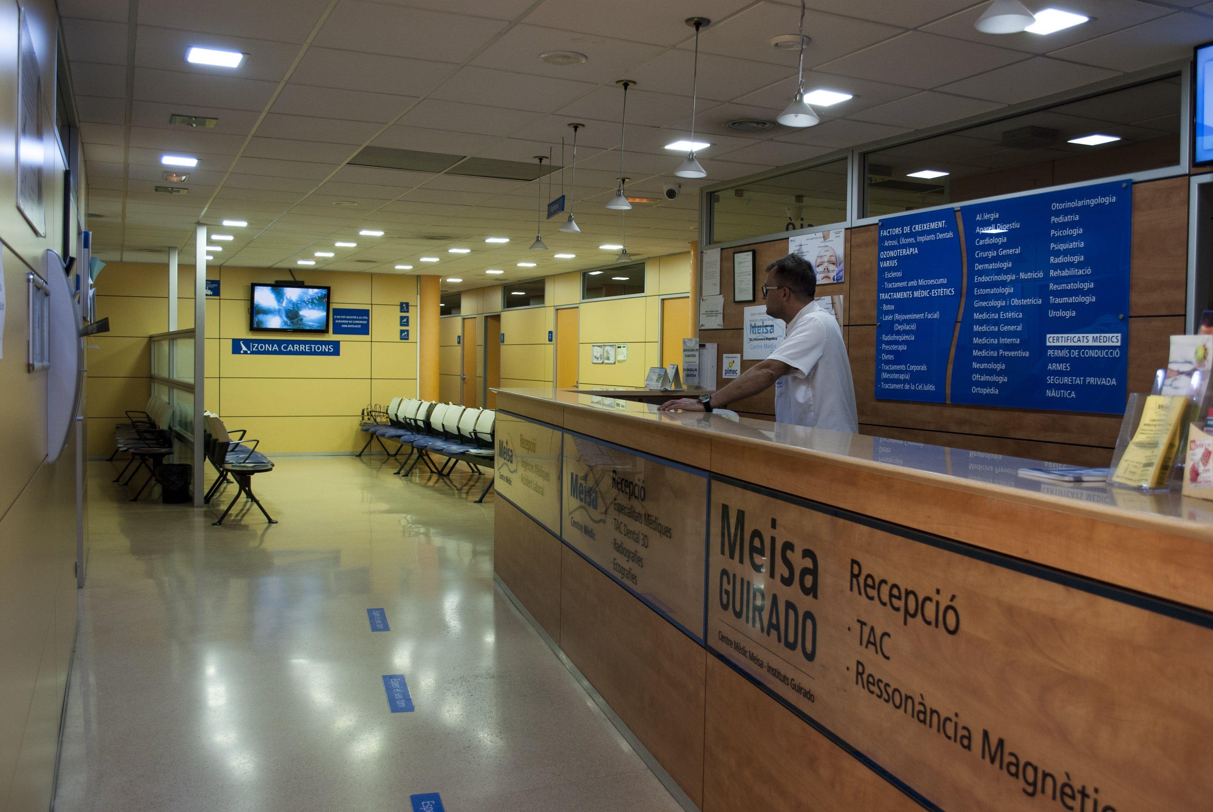 Recepción Centre Medic Meisa