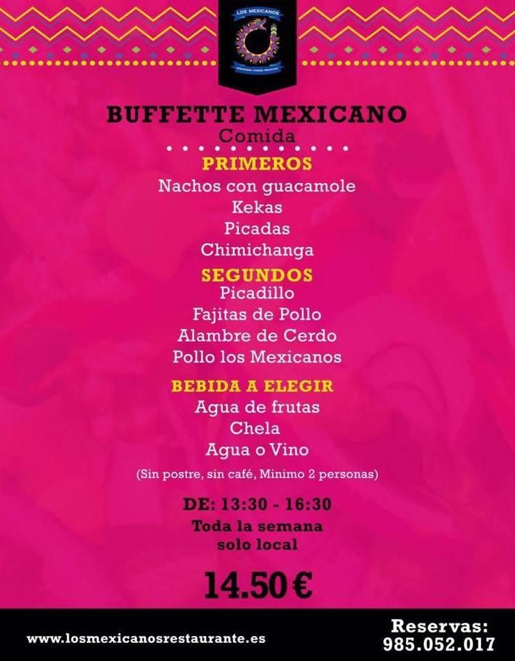 Buffette Mexicano Comida