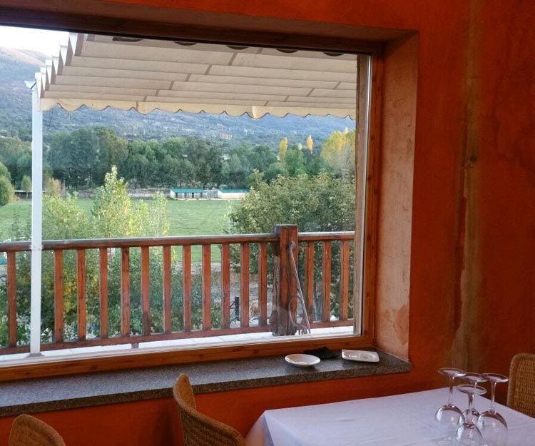 Restaurante con vistas en Bonilla de la Sierra