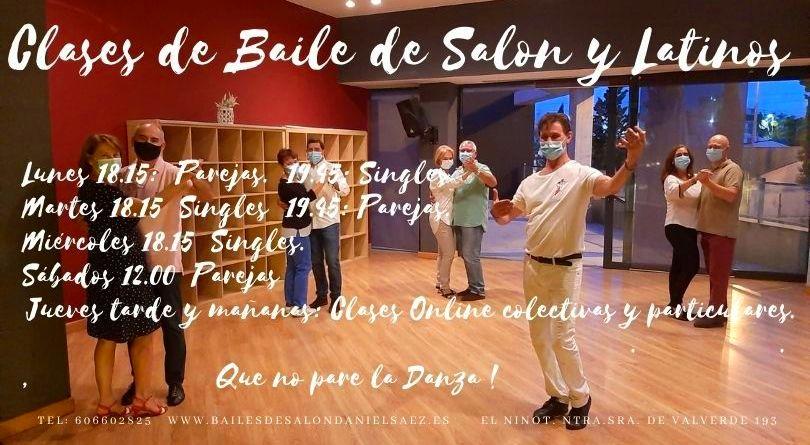 Horarios y precios. Curso 2020-21: Nuestras Clases de Bailes de Salón Daniel Sáez