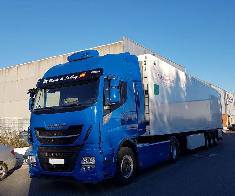 Transporte de productos congelados por carretera