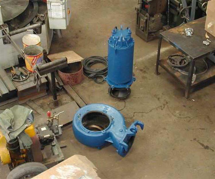 Reparación de bomba de aguas residuales