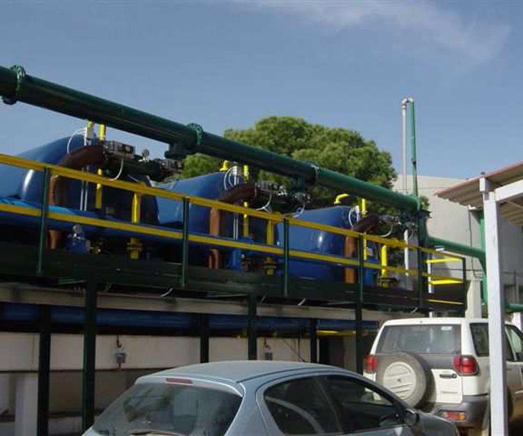 Instalación de nuevos filtros de la E.T.A.P. de Riotinto (Huelva)