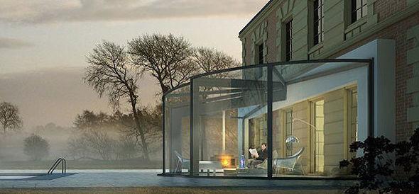 Veranda de aluminio y cristal