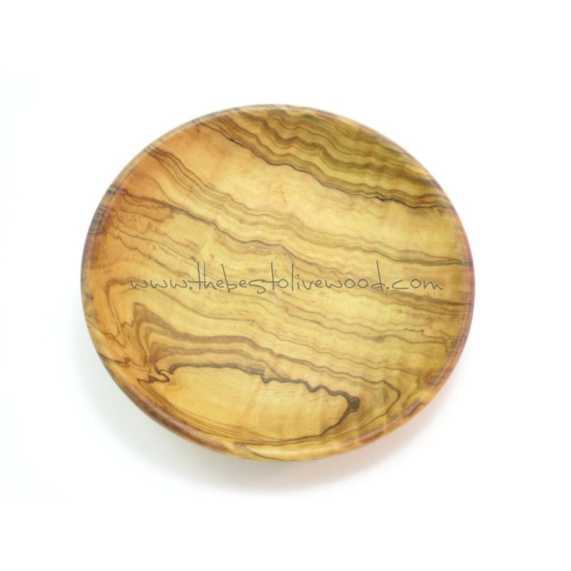 Plato de madera de olivo