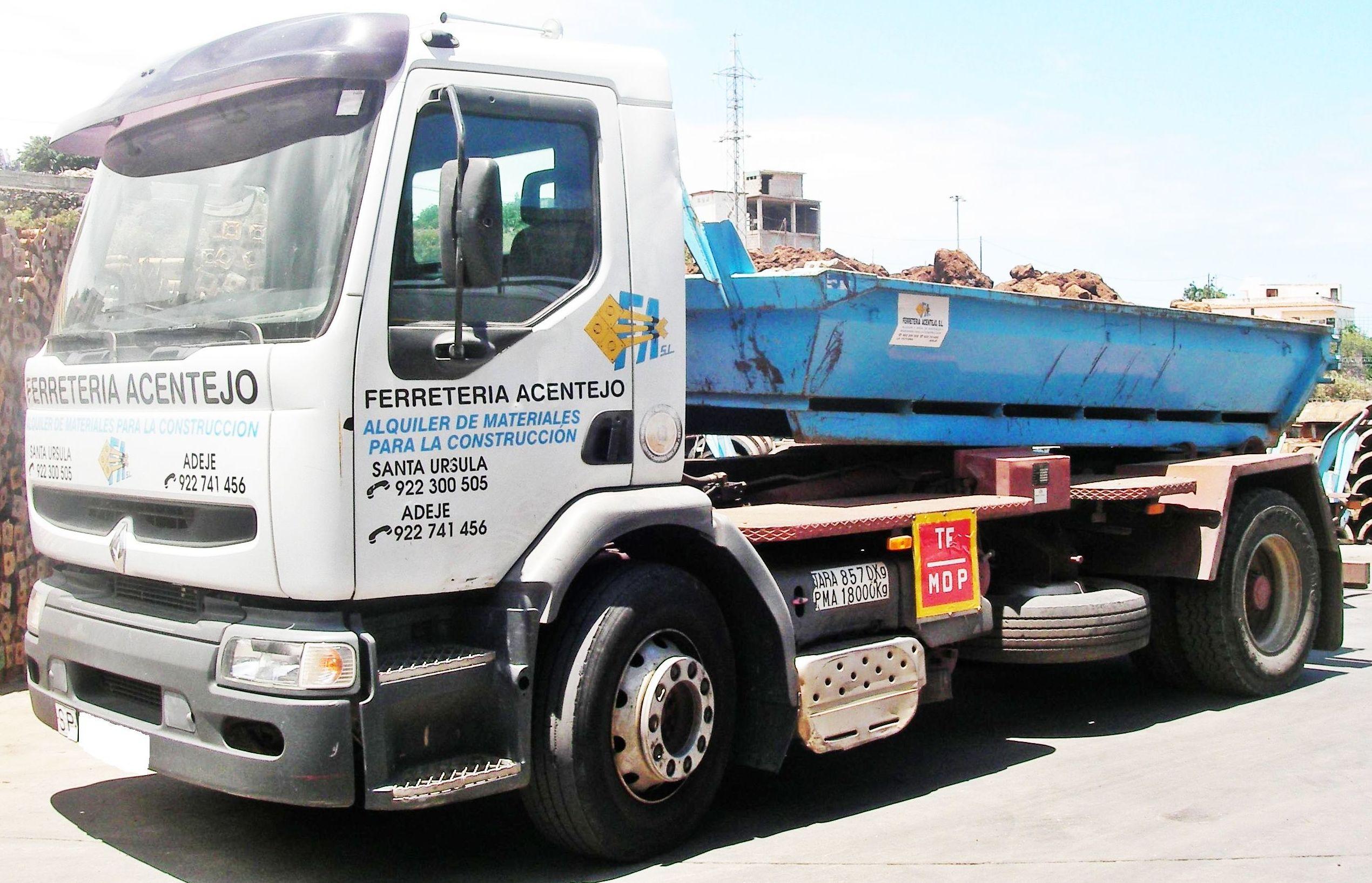 Camión contenedor